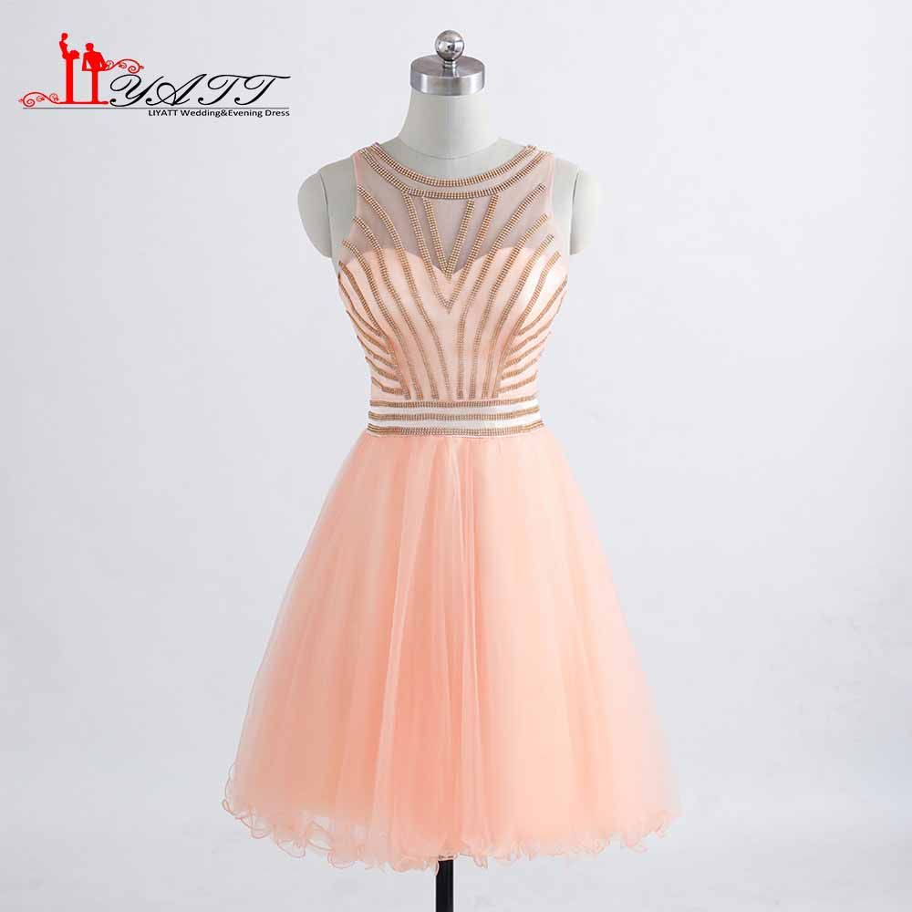 Click to buy ucuc vestidos de festa custom made see through mini