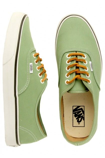 2e651fd5c9 Vans Authentic Shoes (Brushed Twill) - Shale Green True White  55.00 ...