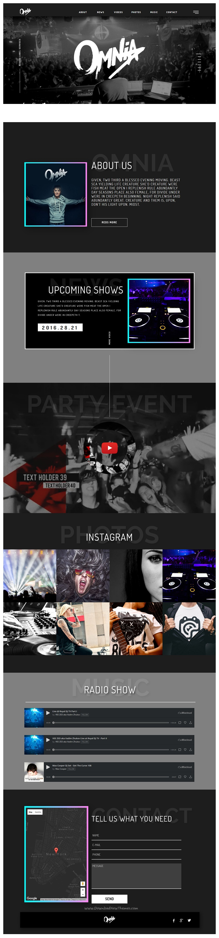 Z-MUSIC - DJ Producer end Music Event | Event website and Template