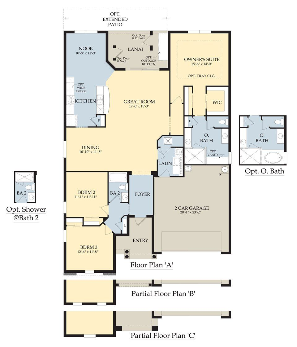 Spruce Floor Plan by Pulte Homes 2,000 sq.ft 3 bedroom, 2