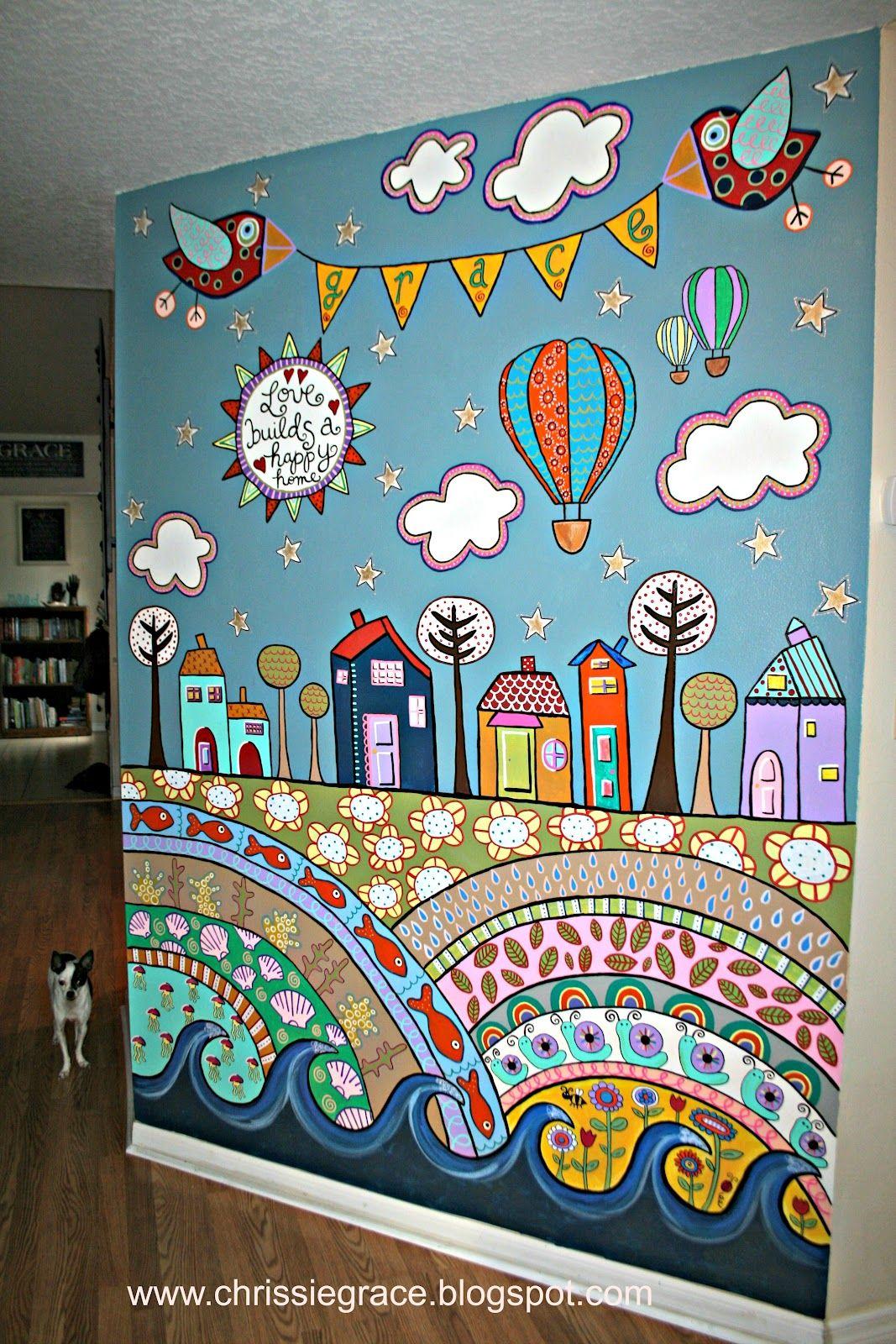 Scarp Fabric Curtain Giveaway Winner Playroom Mural Bedroom