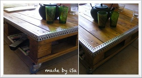 Recyclage Palette: table basse nomade #2 | bricolage deco ...