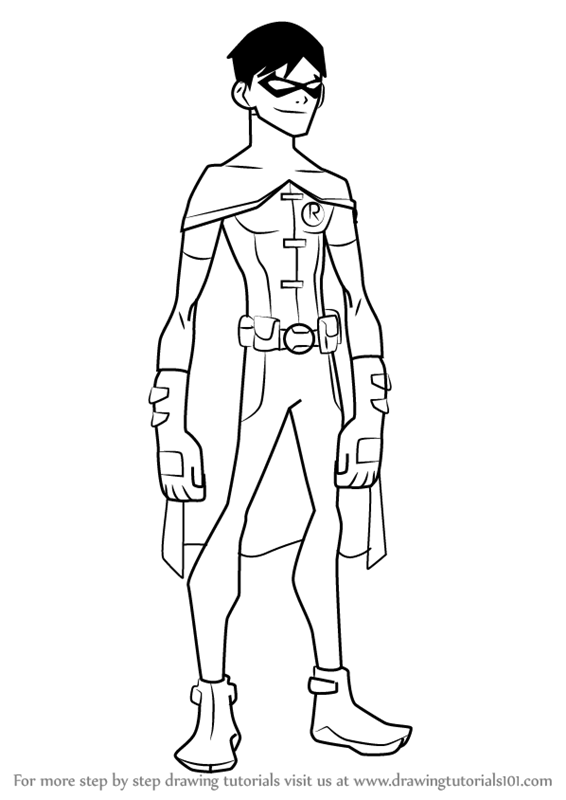 Learn How to Draw Robin from Young Justice (Young Justice