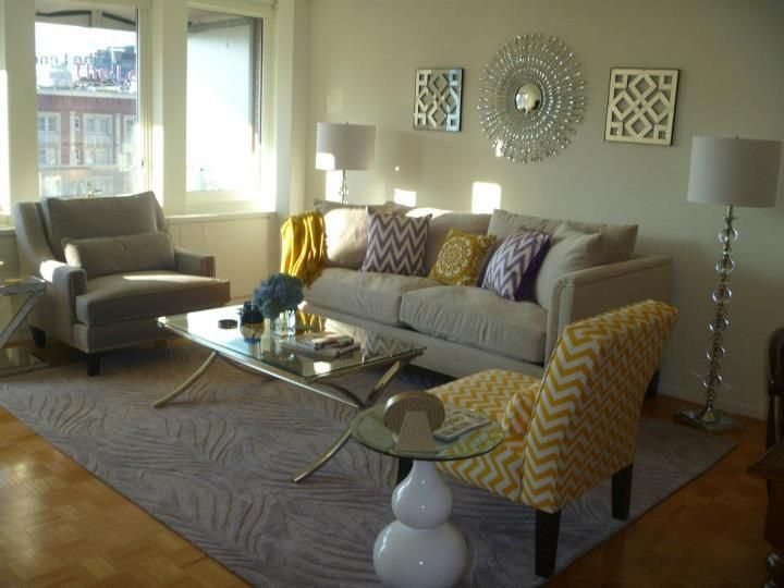 Whitney and Jon\'s new stylish living room looks cozy chic with our ...