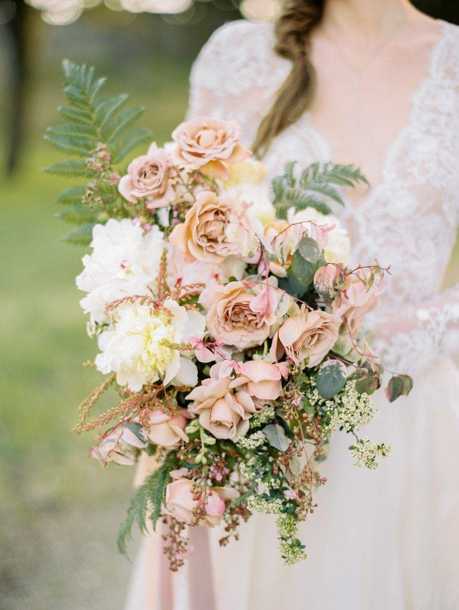 Stunning Mauve And Gold Outdoor Wedding Inspiration Shoot Rose