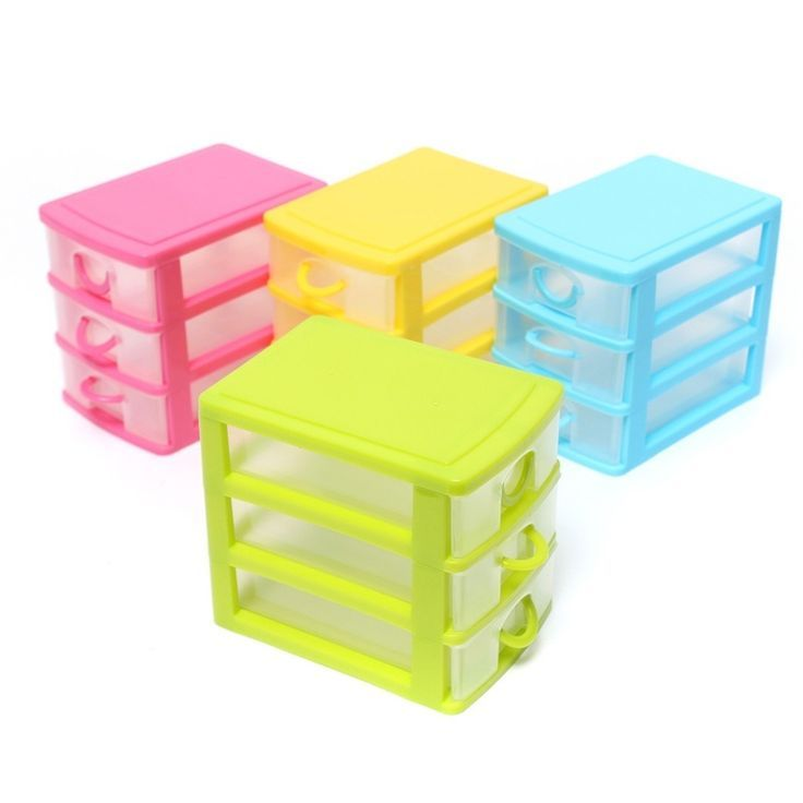 1Pc Makeup Organizer Plastic Storage Box For Jewelry Casket 3 Layer