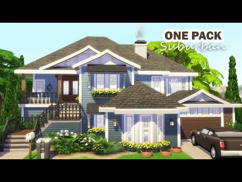 Suburban Family Home 🍀 Base Game and Cats & Dogs No CC