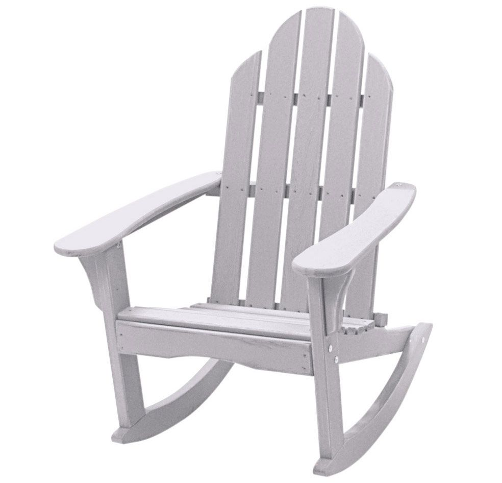 White Resin Adirondack Chairs Lowes Outdoor Rocking Chairs