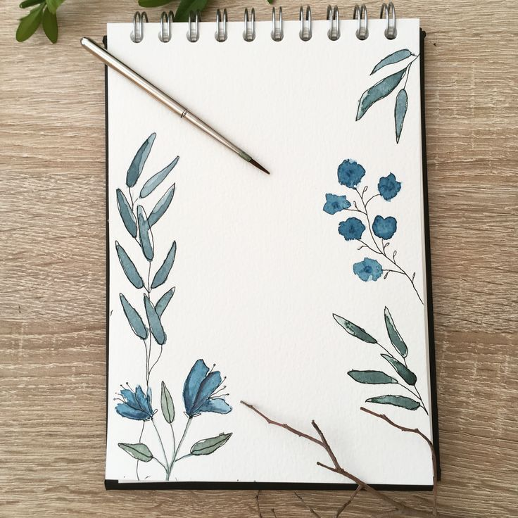 Pflanzen Illustration malen Aquarell Blumen floral botanical watercolor #w