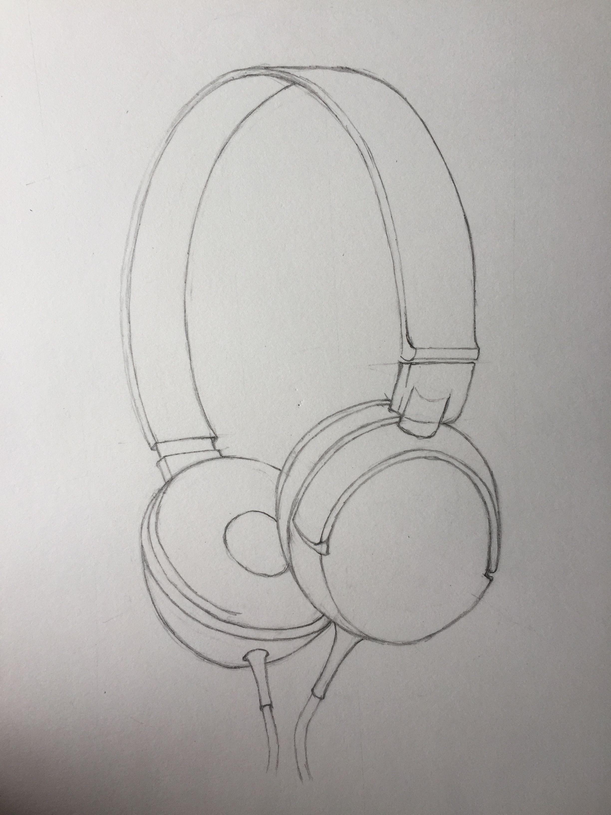 Tried headphones sketch 😎