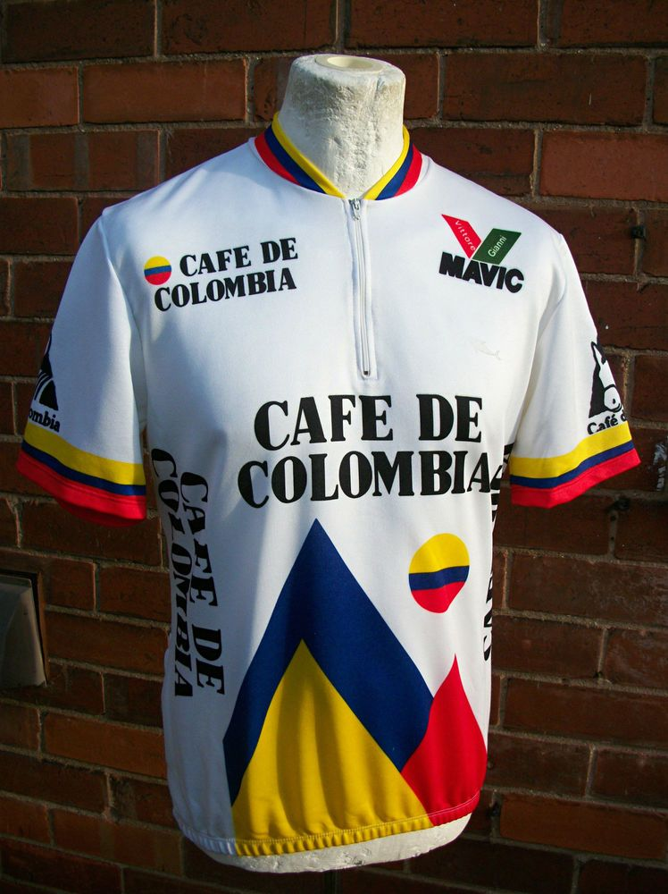 Vintage 80\'s Cafe De Colombia cycling jersey. | Cycling in Croatia ...