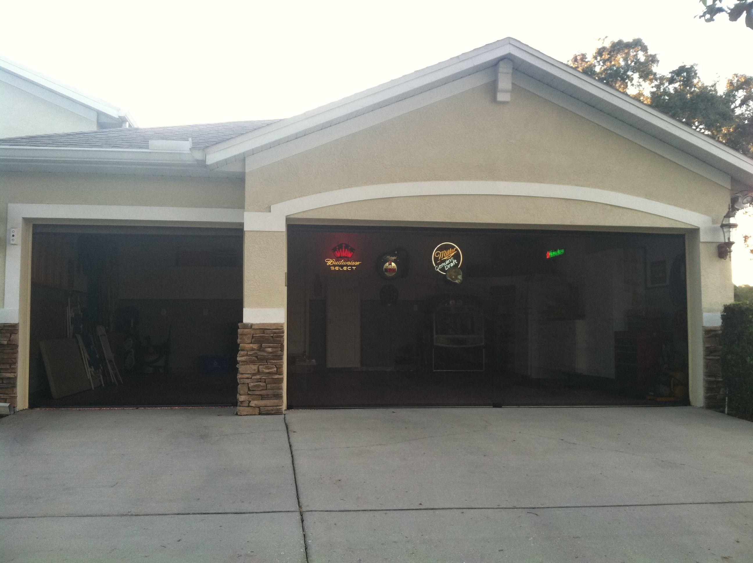 Inside mounted garage screens, Florida | Garage screen ...