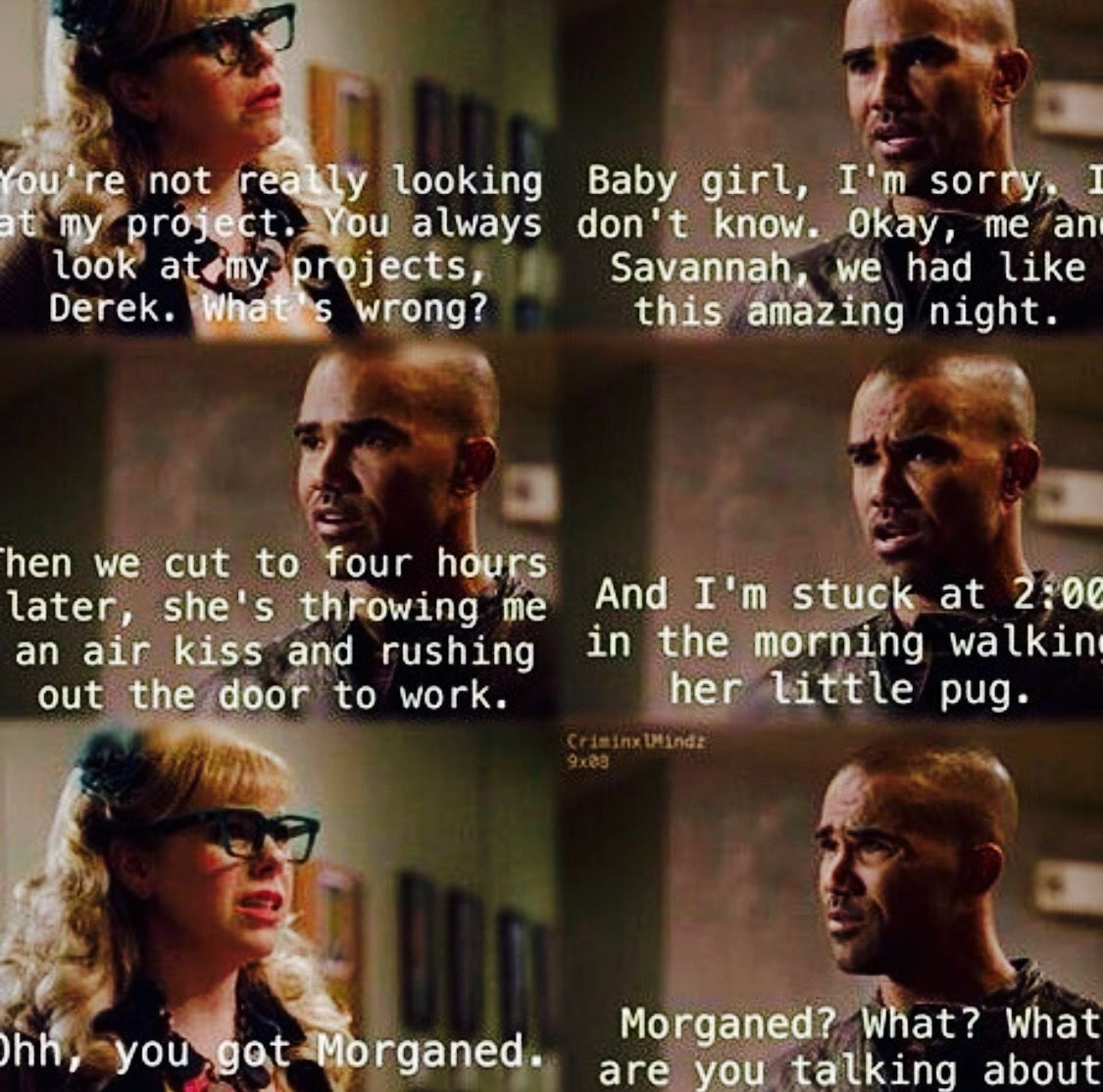 are derek morgan and penelope garcia dating on criminal minds