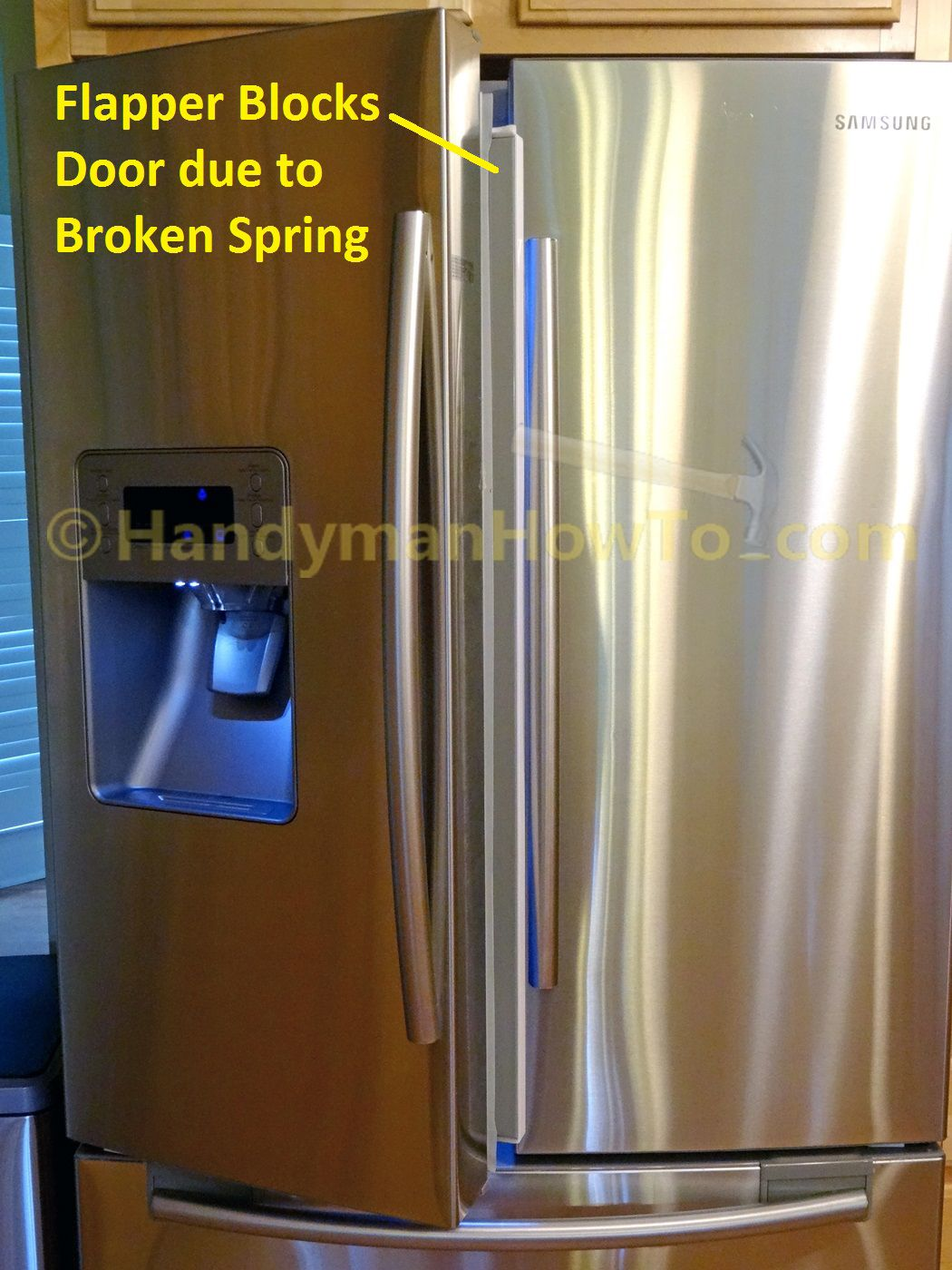 How To Fix A Samsung French Door Refrigerator Mullion Flap Spring