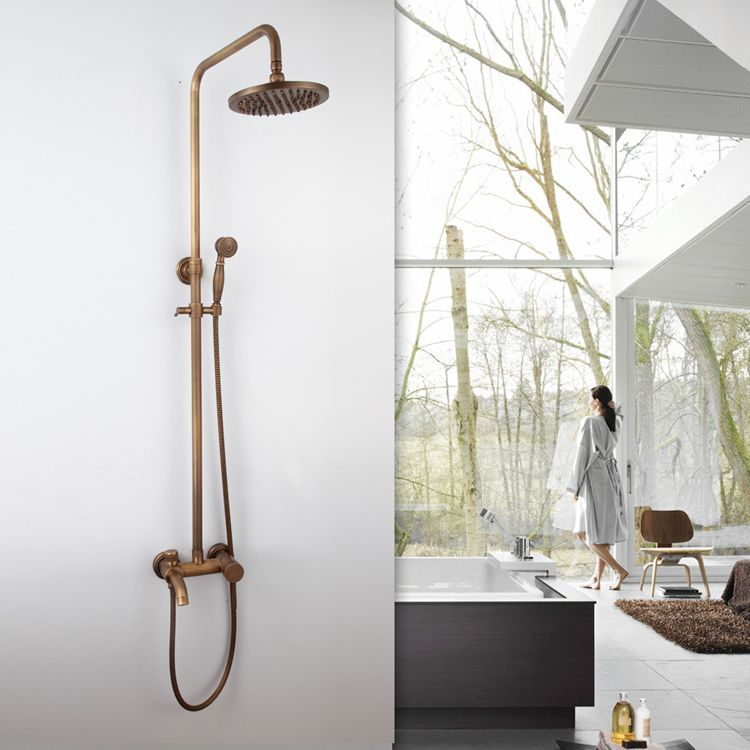 Antique Copper Modern Thermostatic Mixer Shower Valve Exposed ...