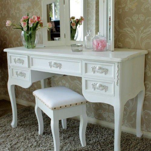 Antique White Large 5 Drawer Dressing Tablewriting Desk Pays