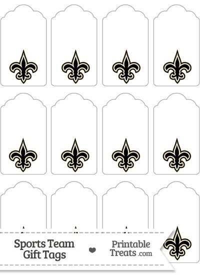 New Orleans Saints Gift Tags from PrintableTreats.com | New ...