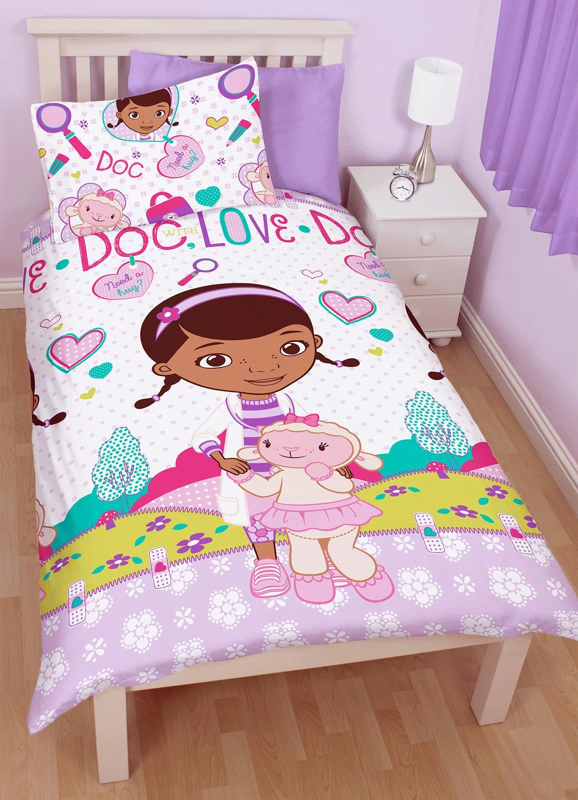 Duvet Now Only GBP1049 Doc McStuffins Hugs Single Rotary Bedding Set