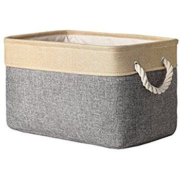 Decorative Fabric Storage Boxes Amazon Thewarmhome Decorative Collapsible Rectangular Fabric