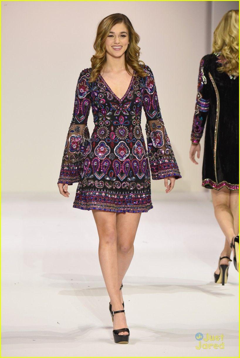 c2210660409 Laura Marano Watches Sadie Robertson Walk The Runway at Sherri Hill s NYFW  Show