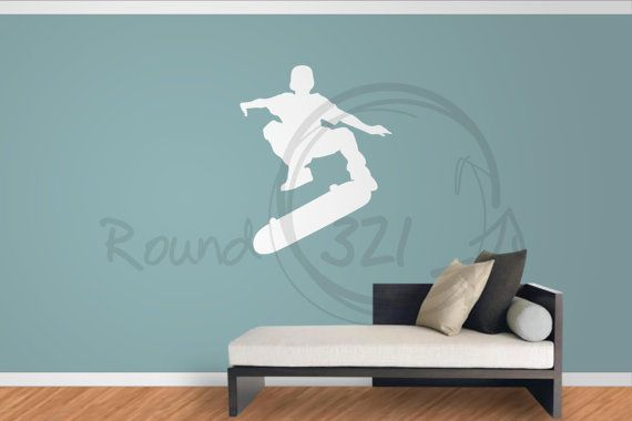 Skateboard Decal For Walls 2 Decorative Decal With Boy by Round321, $24.00