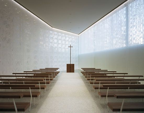jun aoki associates white chapel osaka japan church chapel sacred pinterest sakralbau. Black Bedroom Furniture Sets. Home Design Ideas