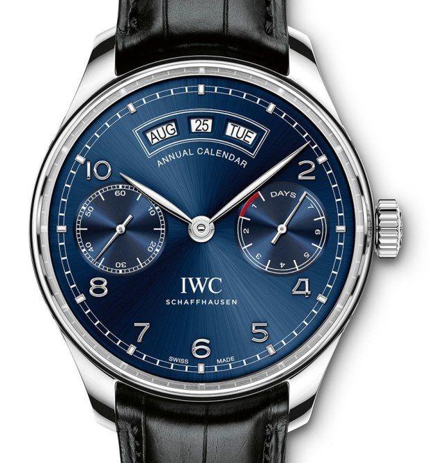 161bef400df IWC Portuguese Annual Calendar Ref 503502 blue dial