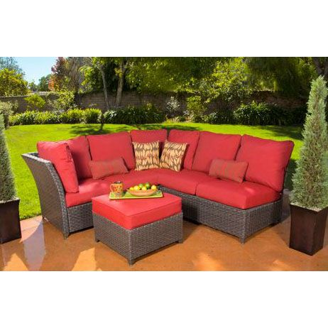 Rushreed Sectional Replacement Cushion Set Outdoor Cushions Patio Furniture Patio Sectional Outdoor Furniture Sets