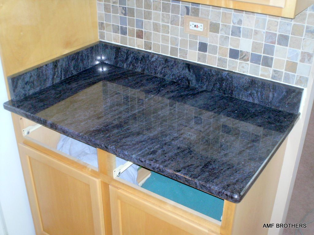 Cool grain blue | Counter tops | Pinterest | Granite countertops ...