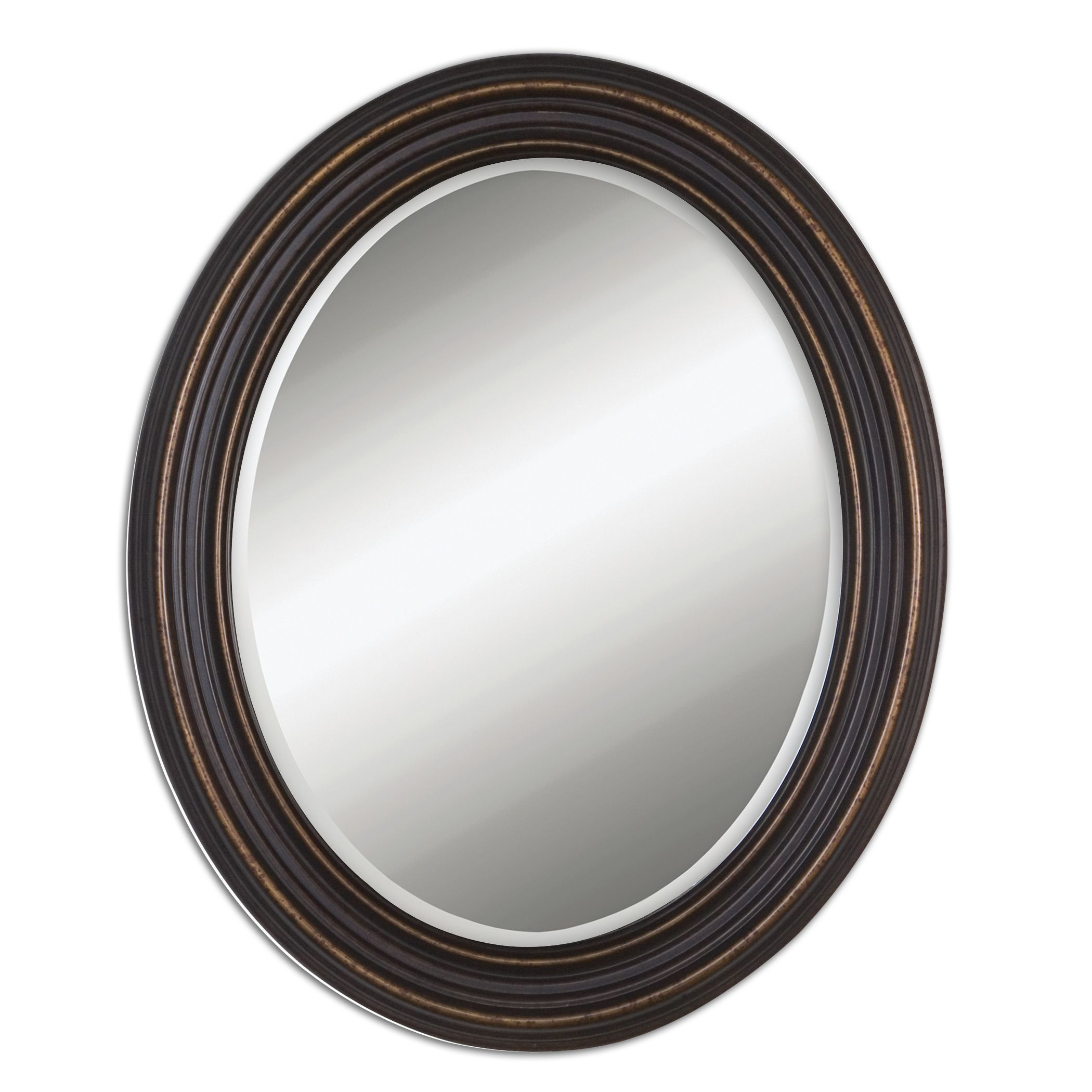 Ovesca Oval Mirror Oval Mirror Traditional Wall Mirrors Bronze