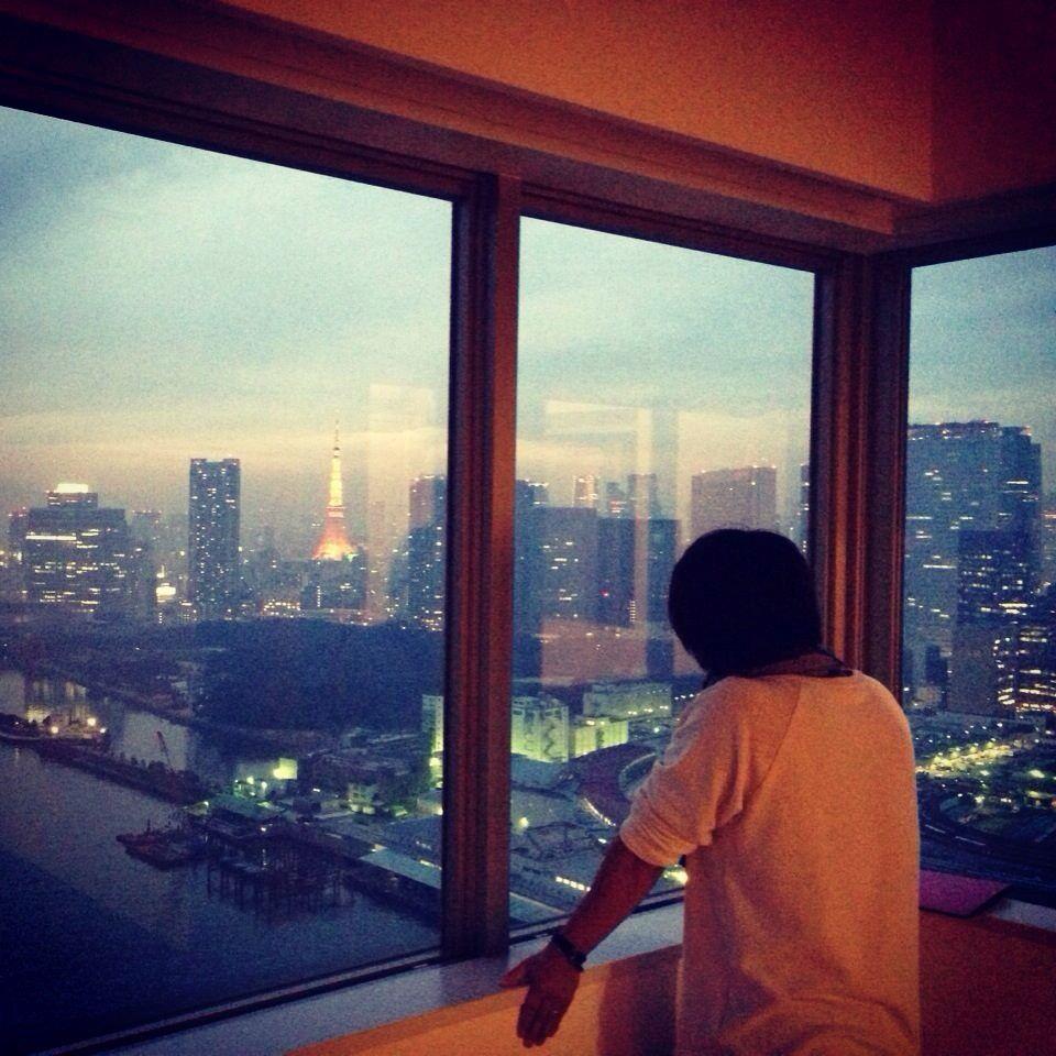 タワーマンションからの眺め。 東京都中央区勝どき。