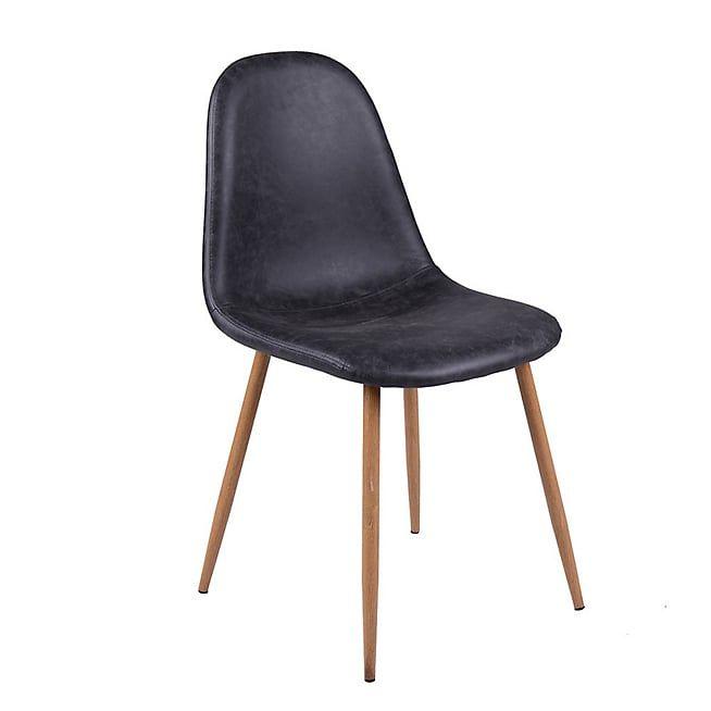 Charlie Chaise Vintage Simili Cuir Noir Chaise Vintage Chaise Chaise De Bureau Vintage
