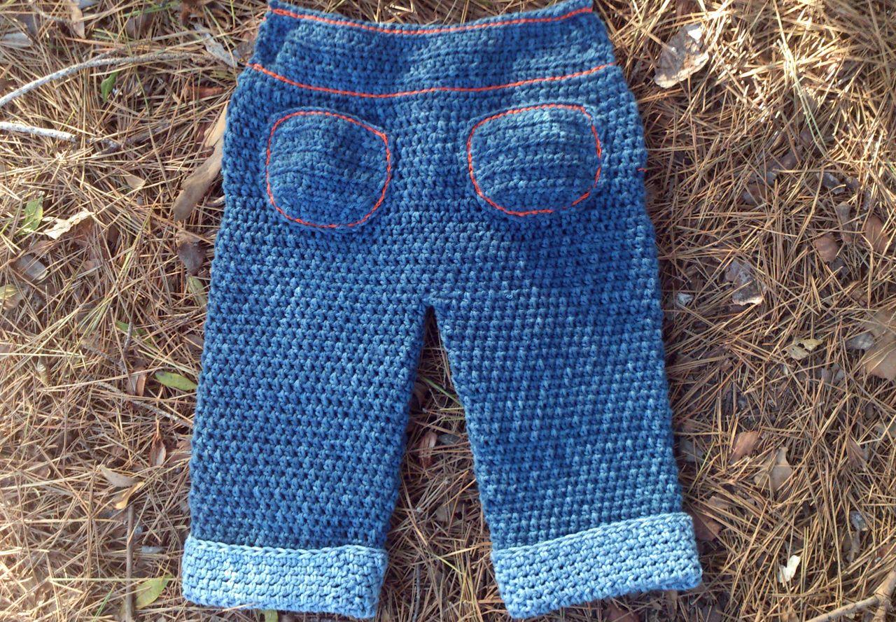 Pantalon Vaquero A Ganchillo Para Bebe Mundo Labores Ganchillo Para Bebe Pantalon Vaquero Ropa Para Bebe De Ganchillo