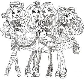 Ever After High Coloring Sheet Coloring Pages Free Coloring