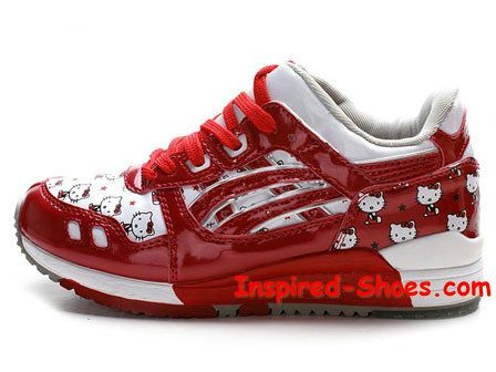 Hello Kitty Asics Running Shoes Fresh Red : Cool High Tops Nikes Dunks  Adidas Converse Cartoon