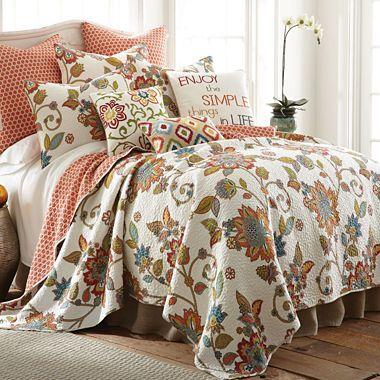 Jcpenney Com Levtex Pomona Floral Quilt Set Quilt Sets Quilt Sets Bedding Cotton Quilt Set