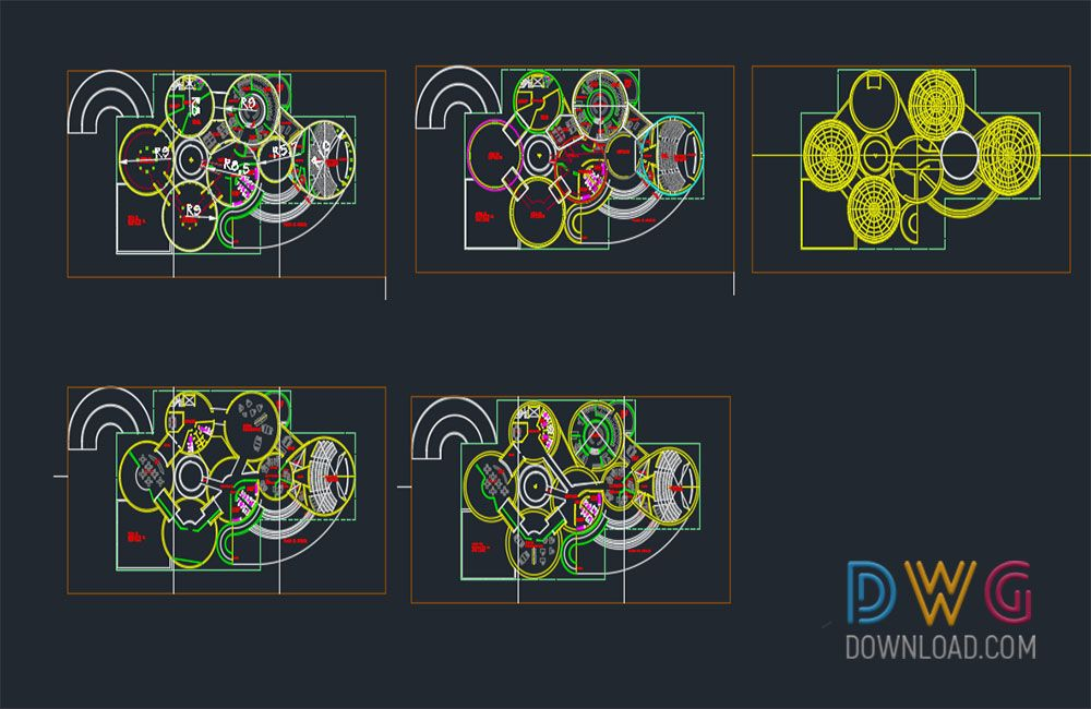 Dwg Download -Museum Plan Dwg Project Architectural Detail Dwg - copy world map autocad download