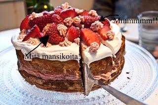 Terveyttä, veitsellä pilkkoen ja pannulla paistaen: Kakkupohja (paleo, maidoton, pähkinätön)