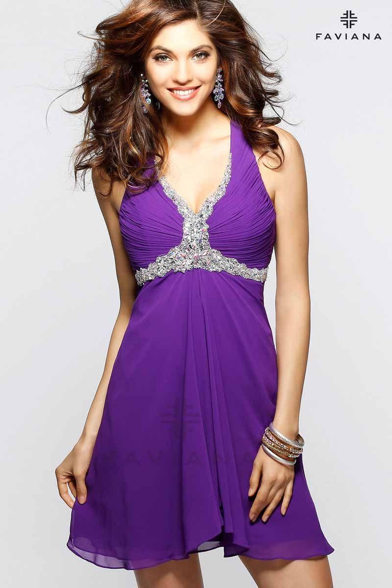 *Faviana 7214 *purple *dress   Kleider kleiner promis ...