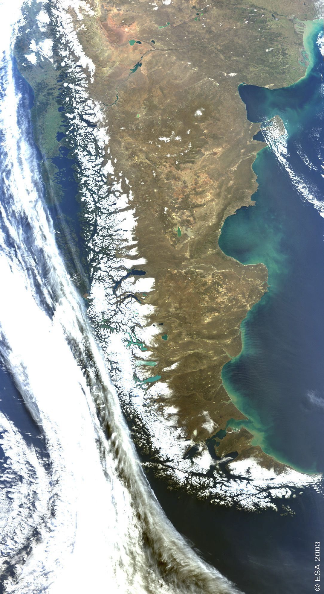 Satellite image photo of patagonia argentina imagenes satellite image photo of patagonia argentina gumiabroncs Image collections