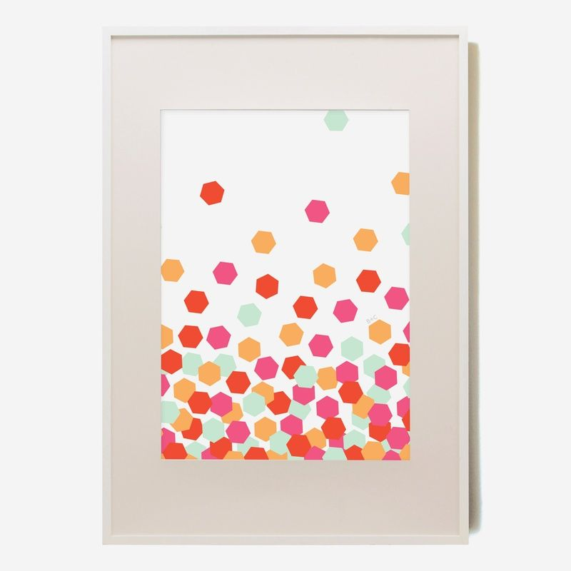 Who wouldn't want framed confetti :)
