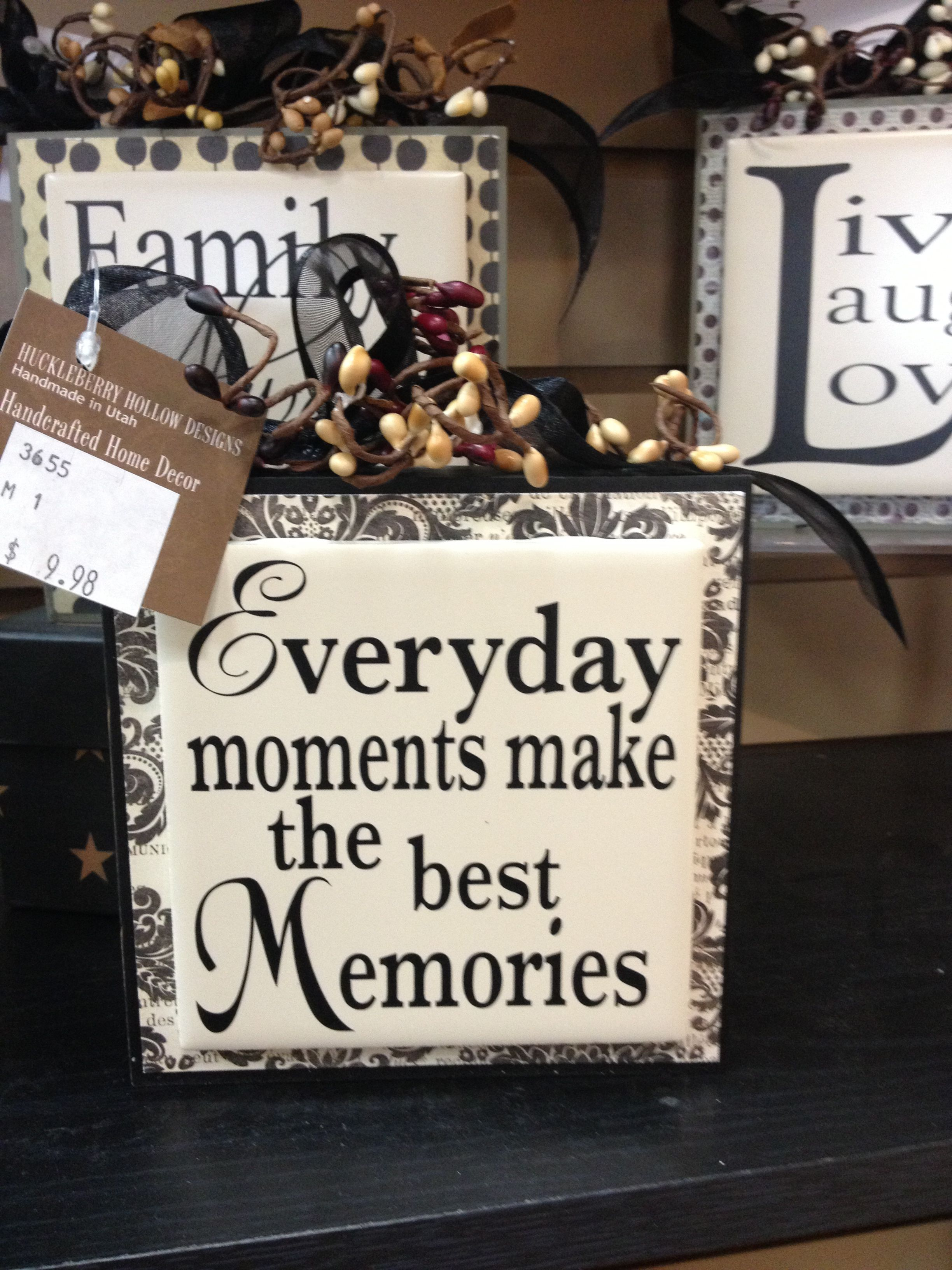 Decorative Block Add A Saying To A Ceramic Tile Have Fired In A