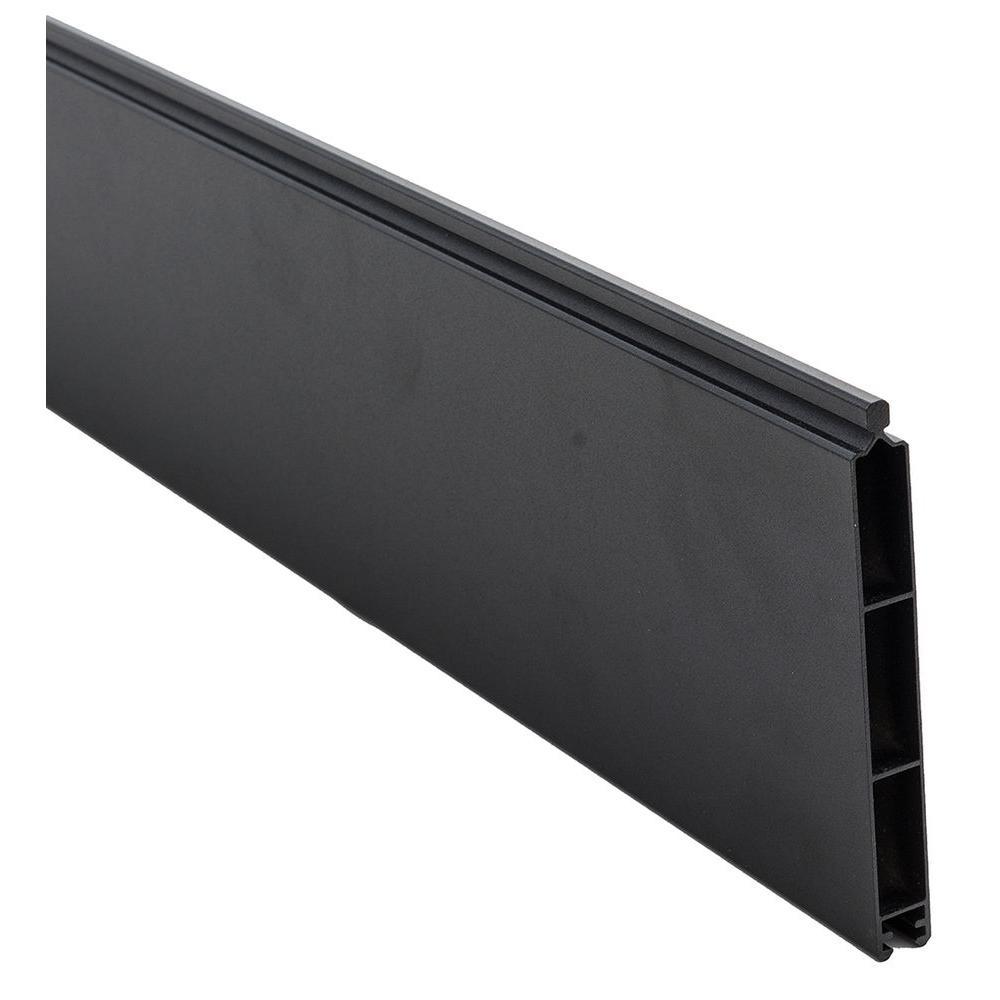 Veranda 0 41 Ft X 5 91 Ft Euro Style Black Aluminum Metal Fence