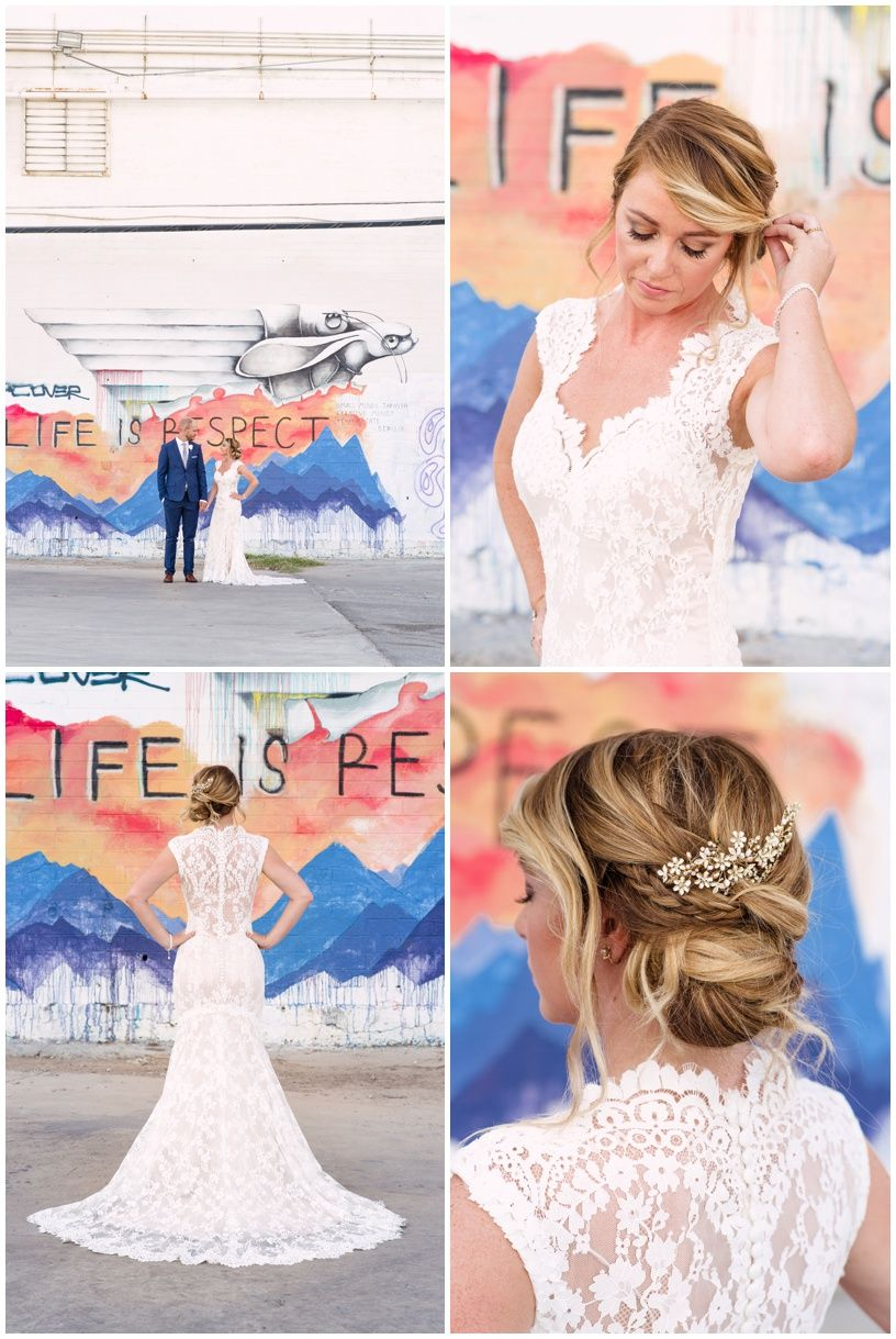 Downtown Las Vegas graffiti wall Wedding - By Rachel Anne Garcia of Brilliant Imagery, a boutique wedding photography studio specializing in destination weddings and creative day after sessions.