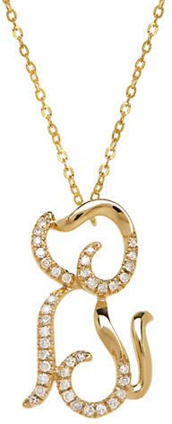 d50b1ac50f9fb Lord & Taylor 14K Yellow Gold Diamond Dog Necklace on shopstyle.com ...
