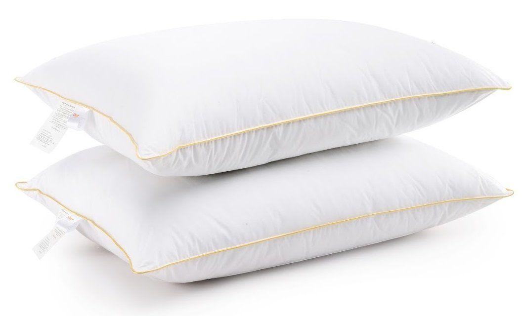 Hypoallergenic Luxurious Gel Fiber Filled Pillow Set Of 2 Pillows