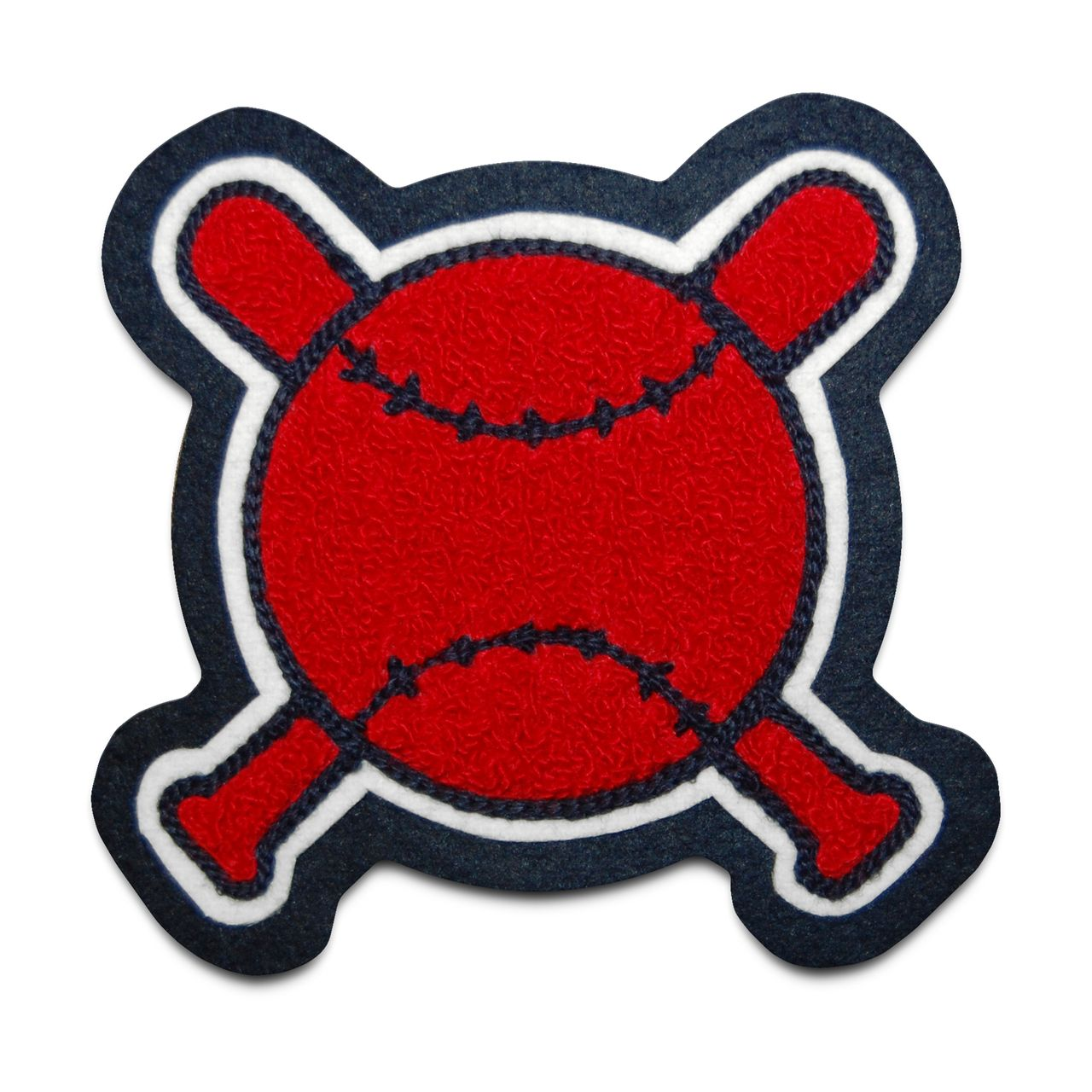 Crossed Bats and Ball Sports Patch Patches, Letterman