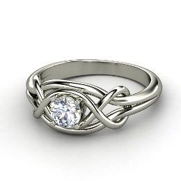 gold knot solid rings wedding ring love diamond engagement
