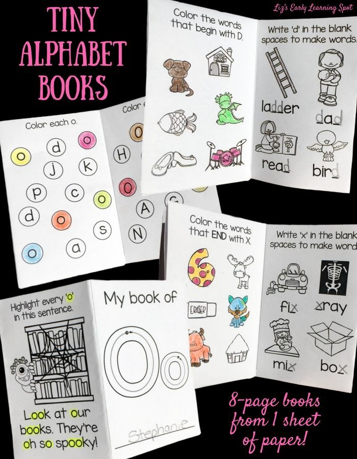 Fun and practical little alphabet activity books. Practice letter recognition, beginning sounds, and word building. $