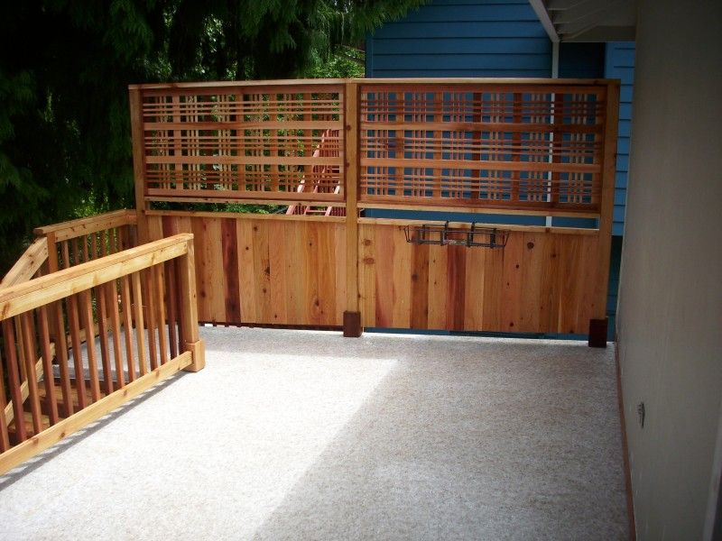 Catalina style lattice privacy screen | Deck railings ...